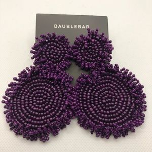 Baublebar purple beaded earrings, New